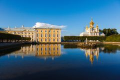 Palace church of Saints Peter and Paul in Peterhof Stock Photography