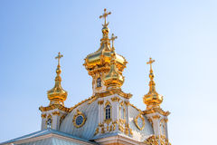 Palace church of Saints Peter and Paul in Peterhof. Peterhof, Saint-Petersburg, Russia. Palace church of Saints Peter and Paul in Peterhof royalty free stock image