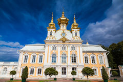 Palace church of St Peter and Paul in Peterhof Royalty Free Stock Photography