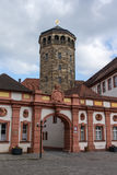 Palace Church and Tower in Bayreuth, Germany, 2015. The octagonal bell tower in Bayreuth was built in 1656 and is located close to the The Old Castle, the tower Stock Photo