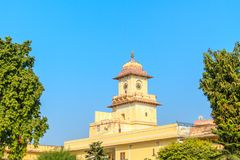 Palace Clocktower. The iconic clocktower at the City Palace in Jaipur, India Royalty Free Stock Image