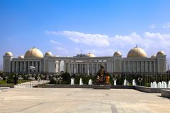 Palace with columns and domes. Ashkhabad. Turkmenistan. Stock Image