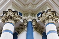 Palace columns in Tsarskoye Selo, Pushkin, Russia Royalty Free Stock Images
