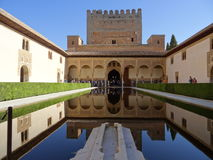 Palace of the Comares in Alhambra. Granada, Spain. Stock Photos