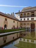 Palace of the Comares in Alhambra. Granada, Spain. Stock Image