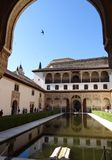 Palace of the Comares in Alhambra. Granada, Spain. Stock Images