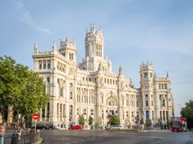 Palace of communications in Cibeles square, Madrid Royalty Free Stock Photography
