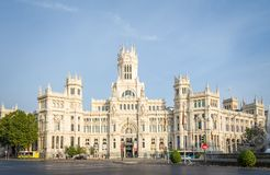 Palace of communications in Cibeles square, Madrid Royalty Free Stock Photos