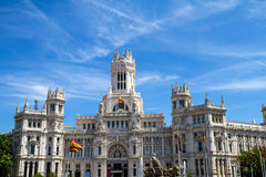 The Palace of Communications in Madrid Stock Photo