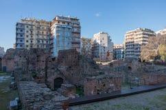 Palace Complex of Galerius ruins, Navarino Square, Thessaloniki, Greece stock photos
