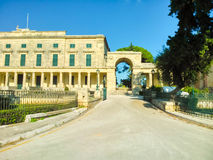 Corfu island. Old buildings on the island of Corfu in Greece Royalty Free Stock Images