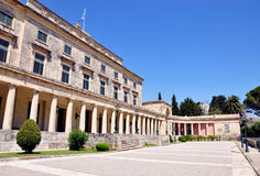 Palace in Corfu Town, Greece, Europe Stock Photos