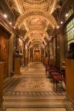 Palace corridor. Elegant palace corridor with windows Royalty Free Stock Photography