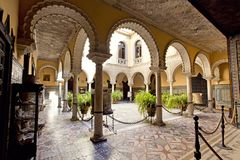 Palace of the Countess of Lebrija in Seville. Andalusia, Spain royalty free stock photography