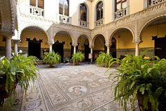 Palace of the Countess of Lebrija in Seville. Andalusia, Spain royalty free stock image