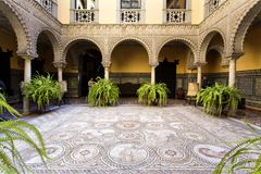 Palace of the Countess of Lebrija in Seville. Andalusia, Spain royalty free stock images