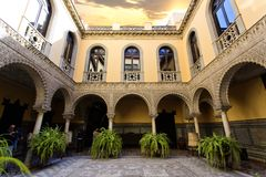 Palace of the Countess of Lebrija in Seville. Andalusia, Spain royalty free stock photos
