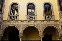 Palace of the Countess of Lebrija in Seville. Andalusia, Spain stock photo