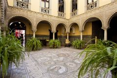 Palace of the Countess of Lebrija in Seville. Andalusia, Spain royalty free stock photo