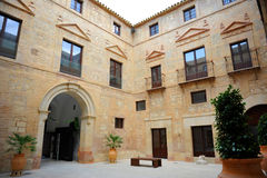Palace of the Counts of Santa Ana in Lucena, province of Cordoba, Spain Royalty Free Stock Photography