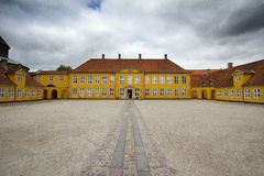 Palace courtyard. Roskilde cathedral denmark Stock Photos