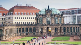 Palace courtyard of Zwinger in Dresden, Germany. Bellflower Pavilion. Travel photo Stock Image