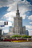 Palace of Culture building in Warsaw Royalty Free Stock Photo