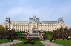 The Palace of Culture, Iasi, Romania royalty free stock photos