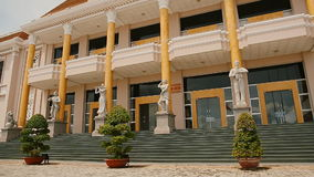 Palace of culture and leisure in the city of Nha Trang. Vietnam. stock footage