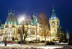 The Palace of Culture at night Stock Images