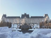 Palace of Culture in winter season Royalty Free Stock Image