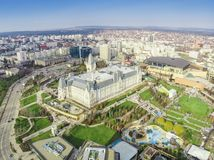 The Palace of Culture and Palas park in Iasi city, Romania. Stock Images