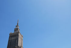 Palace of culture and science Stock Photography