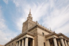 Palace of Culture and Science. In Warsaw, Poland Royalty Free Stock Photography