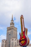 Palace of Culture and guitar Royalty Free Stock Photography