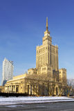 Palace of Culture and Science in city center, Poland Stock Photography