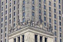 Palace of Culture and Science, facade detail Stock Photo