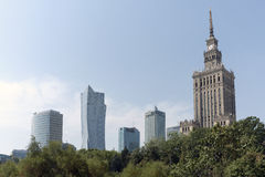 Palace of Culture and Science. Royalty Free Stock Image