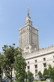 Palace of Culture and Science. Royalty Free Stock Photo