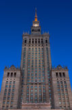 Palace of Culture and Science at Night Royalty Free Stock Photography