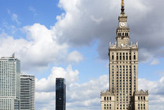 Palace Of Culture And Science and office buildings Stock Image