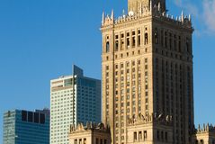 Palace of Culture and Science, Warsaw Stock Photo