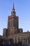 Palace of Culture and Science in Warsaw. Palace of Culture and Science (Polish: Palac Kultury i Nauki), famous landmark in Warsaw, Poland Stock Photos