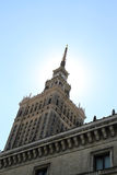 Palace of Culture and Science. In Warsaw royalty free stock photography