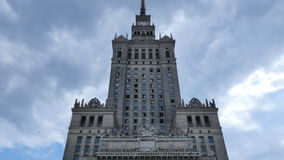 Palace of Culture and Science stock video