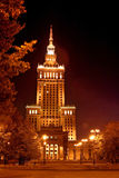 Palace of Culture and Science in Warsaw Stock Photo
