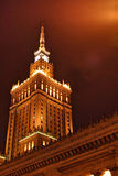 Palace of Culture and Science in Warsaw Royalty Free Stock Photos