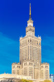 Palace of Culture and Science in Warsaw city downtown, Poland. Stock Photography