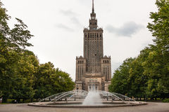 Palace of Culture and Science, Warsaw City. WARSAW, POLAND - JUNE 28, 2014:  Youth Palace, northent part of the Palace of Culture and Science (PKiN) with a nice Royalty Free Stock Image