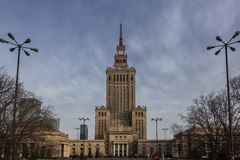 Palace of Culture and Science in Warsaw Royalty Free Stock Images
